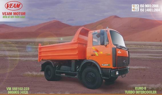 Xe Tải Ben VEAM 9.8 Tấn - VM 555102