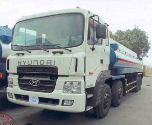 Xe bồn Hyundai HD320 bồn chở xăng dầu 16m3