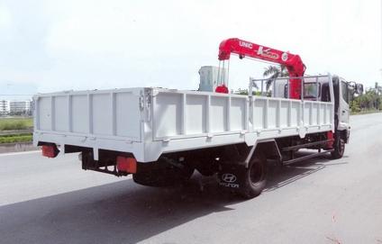 Xe tải Hino FC gắn cẩu Unic 3 tấn 3 khúc UR-V343