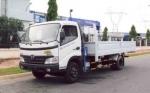 Xe tải Hino 3 Tấn -  WU422 gắn cẩu 3 tấn 3 khúc